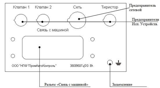 Задняя панель регулятора РКМ-812