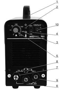 Лицевая панель установки TIG-210 BIMArc PRO Line.jpg