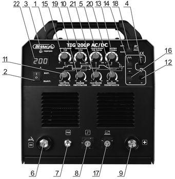 Лицевая панель установок TIG-200Р AC DC.jpg