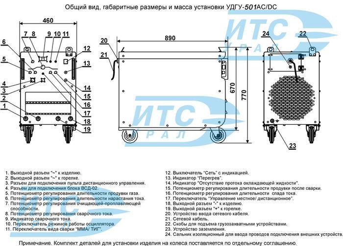 Общий вид, габаритные размеры и масса установки УДГУ-501.jpg